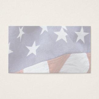 American flag stars business card