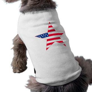 American Flag Stars Dog T-shirt