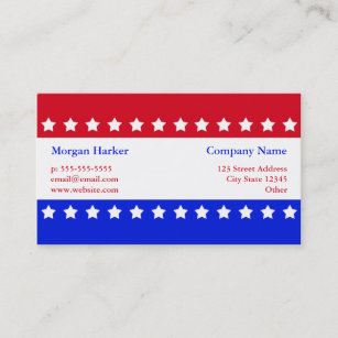 Blue and white flag business cards zazzle au american flag stars red white blue business business card reheart Images