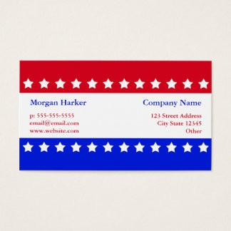 American Flag Stars Red White Blue Business Business Card