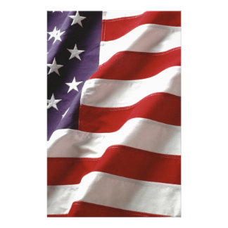 American Flag Customized Stationery