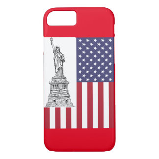 American Flag Staute of Liberty iPhone 7 Case