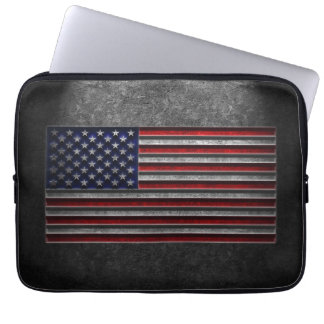 American Flag Stone Texture Laptop Sleeve