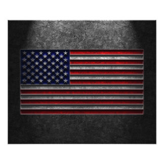 American Flag Stone Texture Photo Print