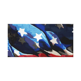 American Flag Stretched Canvas Canvas Print