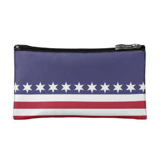 American Flag Style Starry Fashion Bag Patriot Cosmetic Bags