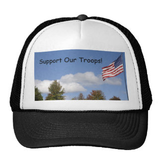 American Flag, Support Our Troops! Cap
