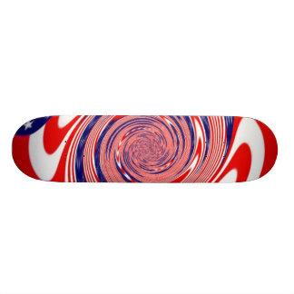 American Flag Swirl Skate Deck