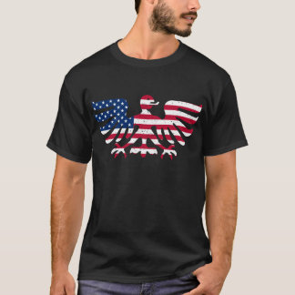 American Flag Swiss Coat Of Arms Eagle T-shirt