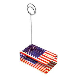 American flag table number stands table card holders