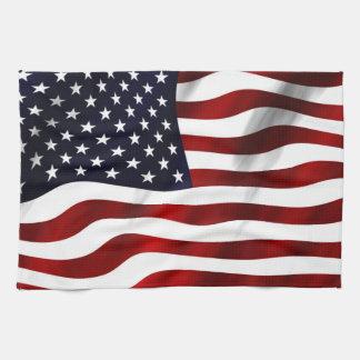 American Flag Tea Towel