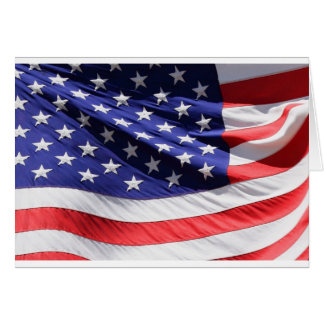 American-flag-Template Greeting Card