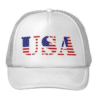 american flag  text usa mesh hats