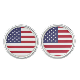 American Flag, the United States of America, USA Cuff Links