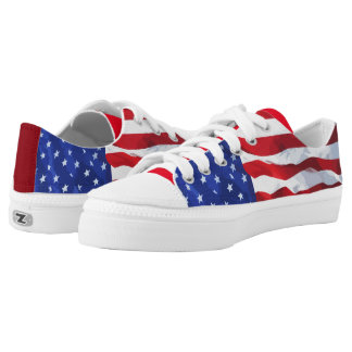 American Flag Theme Low Tops