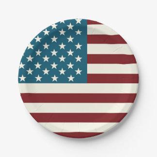 American Flag Themed Patriotic Plates