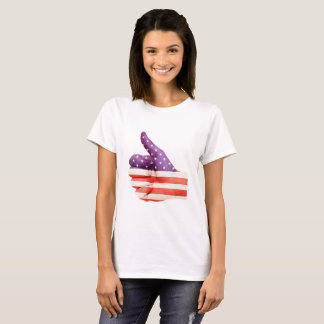 American Flag, Thumbs up. - Patriotic T-Shirt