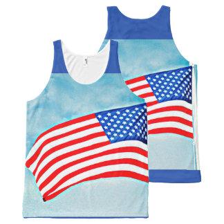 American Flag Unisex Tank Top
