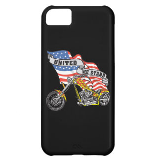 American Flag United Stand Motorcycle iPhone4 Case iPhone 5C Case