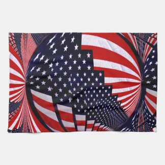 American Flag-Unity & Love_ Hand Towel