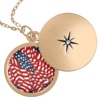 American Flag-Unity & Love_ Locket Necklace
