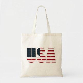 american flag - usa budget tote bag