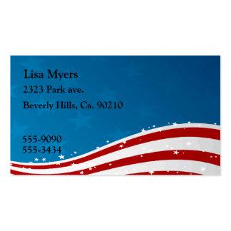 American Flag USA Business Card Template