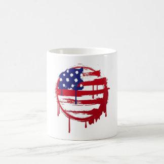 american flag usa graffiti coffee mug