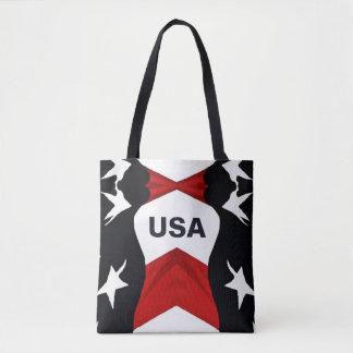 American Flag USA Tote Bag
