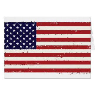 American Flag USA US Card