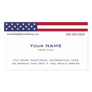 American Flag version 2 Business Card Template