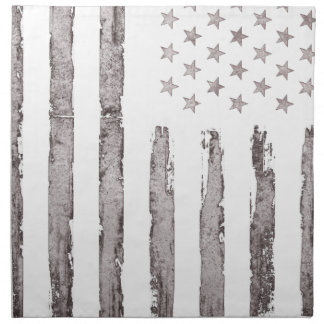 American flag Vintage Grey Napkin