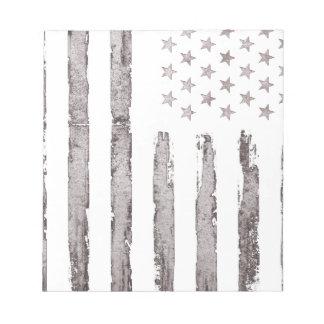 American flag Vintage Grey Notepad