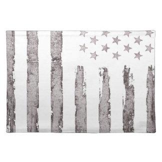 American flag Vintage Grey Placemat