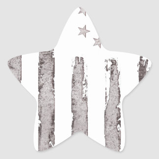 American flag Vintage Grey Star Sticker