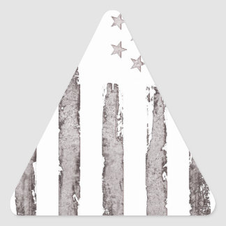American flag Vintage Grey Triangle Sticker