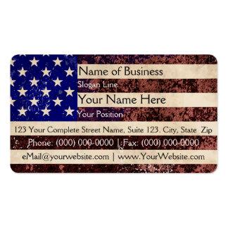 American Flag Vintage Grunge Business Card Template