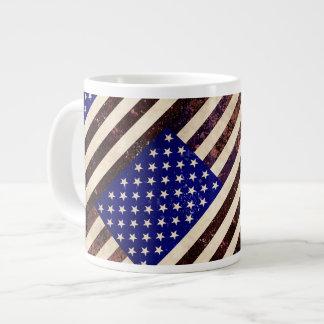 American Flag Vintage Grunge Jumbo Mugs