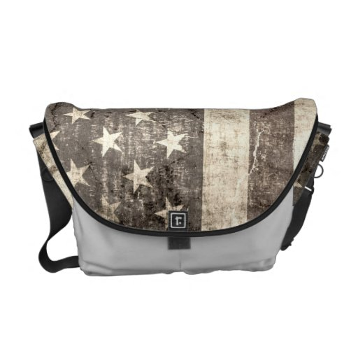 American Flag Vintage Messenger Bags