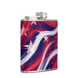 American flag Vinyl Wrapped Flask