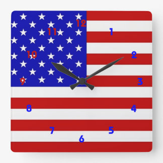 American Flag - Wall Clock