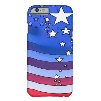 American Flag Watercolor Art Barely There iPhone 6 Case