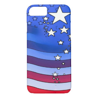 American Flag Watercolor Art iPhone 7 Case