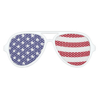 American Flag Waving Aviator Sunglasses