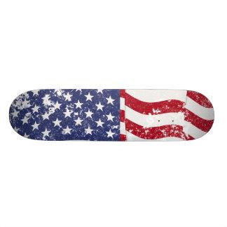 American Flag Waving - Distressed #2 Skate Board Deck