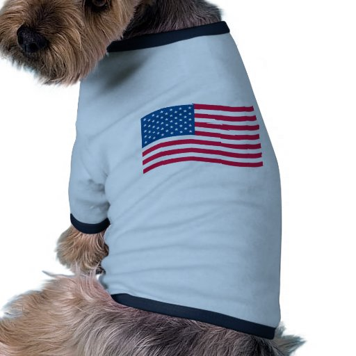 American Flag Waving Pet T Shirt