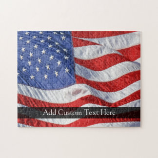 American Flag, Waving in Wind Jigsaw Puzzle