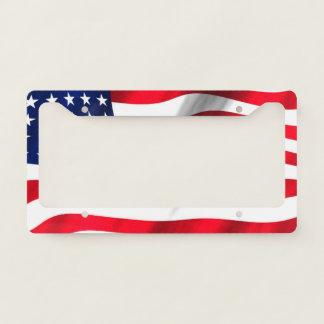 American Flag Waving Licence Plate Frame