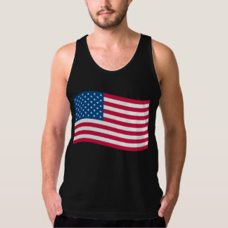 American Flag Waving Singlet