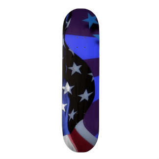 American Flag Waving Skate Board Deck